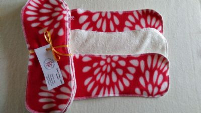 Bamboo Fleece Topped Boosters/Liners pk5  Red Snowburst!
